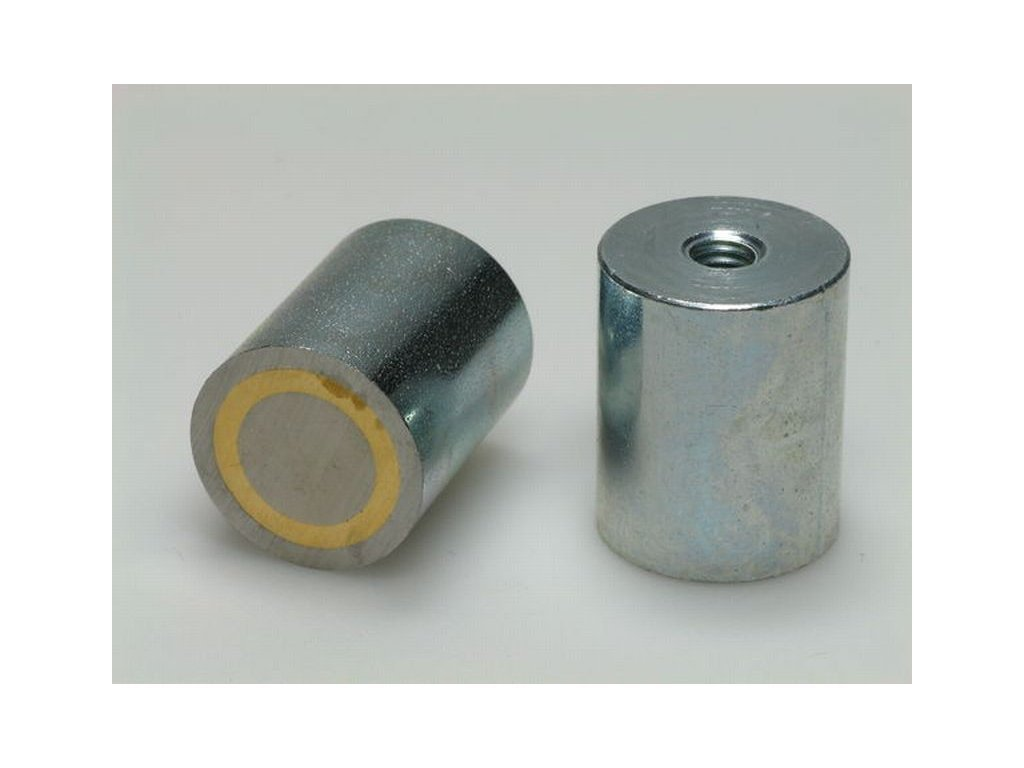 AlNiCo magnetická čočka válcová s vnitřním závitem 13x20 mm