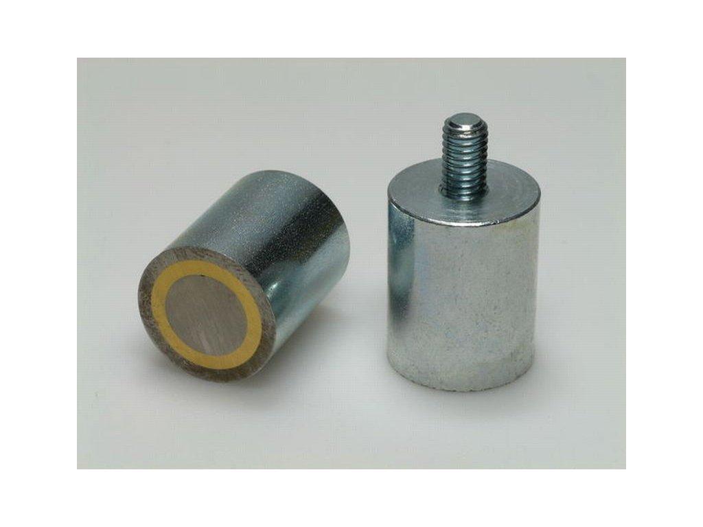 AlNiCo magnetická čočka válcová s vnějším závitem 40x50 mm