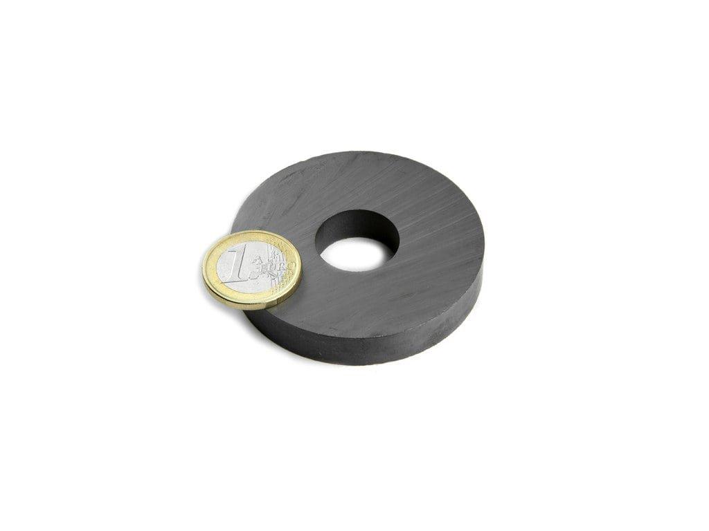 Feritový magnet mezikruží D60/20mm, H10mm, Ferit, Y35, bez povrchové úpravy