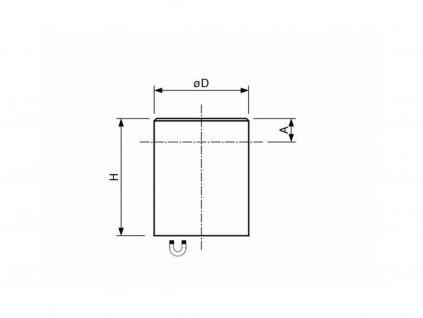AlNiCo magnetická čočka válcová s tolerancí H6 16x20 mm
