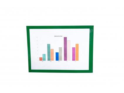 Samolepící kapsa s rámečkem - zelená