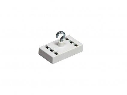 Dekorační magnet feritový / neodymový bílý