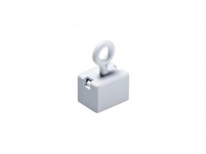 Dekorační magnet feritový s očkem bílý